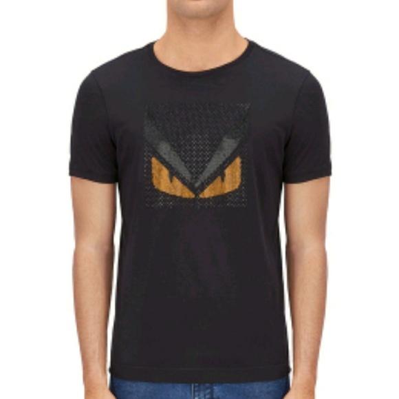 42745f88e Fendi Shirts | Bag Bugs Tshirt In Black Cotton | Poshmark